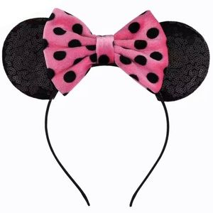 💕🖤 Polka Dot MINNIE MOUSE EARS! $35 @ Disneyland